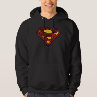 Superman S-Shield | Darkened Red Logo Hoodie