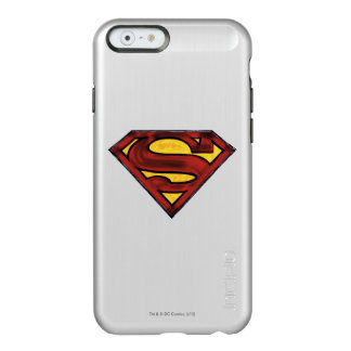 Superman S-Shield | Darkened Red Logo Incipio Feather® Shine iPhone 6 Case