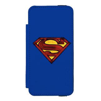 Superman S-Shield | Darkened Red Logo Incipio Watson™ iPhone 5 Wallet Case