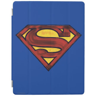 Superman S-Shield | Darkened Red Logo iPad Cover