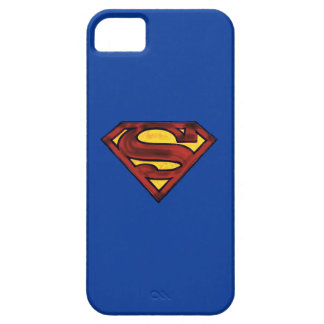 Superman S-Shield | Darkened Red Logo iPhone 5 Cases