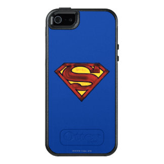 Superman S-Shield | Darkened Red Logo OtterBox iPhone 5/5s/SE Case
