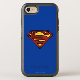 Superman S-Shield | Darkened Red Logo OtterBox Symmetry iPhone 8/7 Case