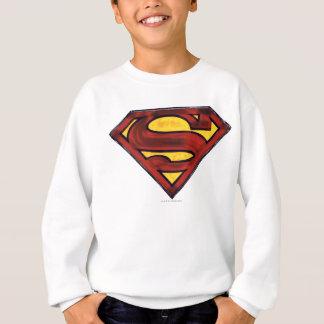 Superman S-Shield | Darkened Red Logo Sweatshirt