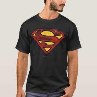 Superman S-Shield | Darkened Red Logo T-Shirt