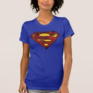 Superman S-Shield | Darkened Red Logo Tee Shirts