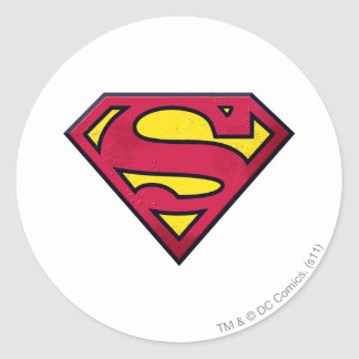 Superman S-Shield | Dirt Logo Classic Round Sticker