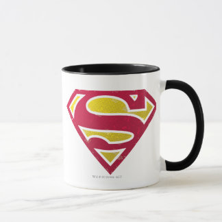 Superman S-Shield | Distressed Dots Logo Mug