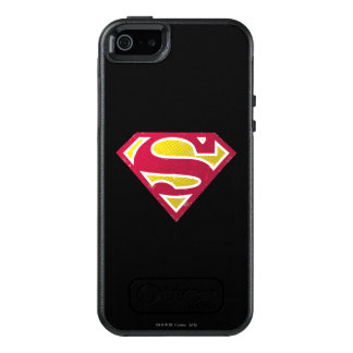 Superman S-Shield | Distressed Dots Logo OtterBox iPhone 5/5s/SE Case