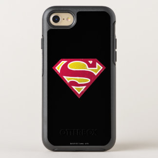 Superman S-Shield | Distressed Dots Logo OtterBox Symmetry iPhone 8/7 Case