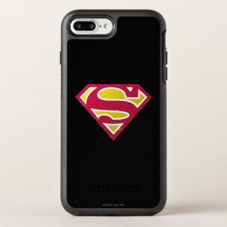 Superman S-Shield | Distressed Dots Logo OtterBox Symmetry iPhone 8 Plus/7 Plus Case