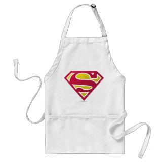 Superman S-Shield | Distressed Dots Logo Standard Apron