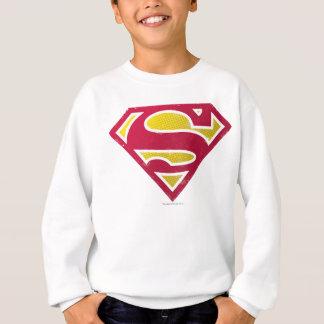Superman S-Shield | Distressed Dots Logo Sweatshirt