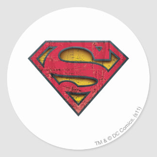 Superman S-Shield | Distressed Logo Classic Round Sticker