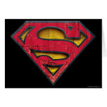 Superman S-Shield | Distressed Logo Greeting Card