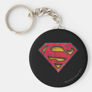 Superman S-Shield | Distressed Logo Key Ring