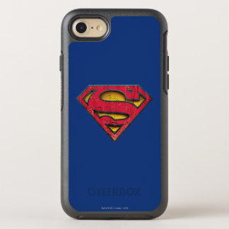 Superman S-Shield | Distressed Logo OtterBox Symmetry iPhone 8/7 Case