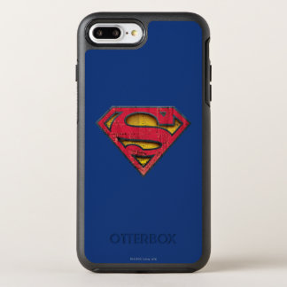 Superman S-Shield | Distressed Logo OtterBox Symmetry iPhone 8 Plus/7 Plus Case