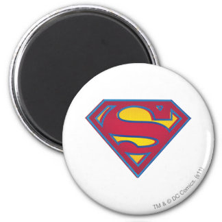 Superman S-Shield | Dot Logo 6 Cm Round Magnet
