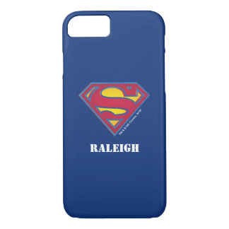Superman S-Shield | Dot Logo | Add Your Name iPhone 8/7 Case