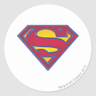 Superman S-Shield | Dot Logo Classic Round Sticker