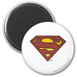 Superman S-Shield | Faded Dots Logo 6 Cm Round Magnet