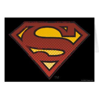Superman S-Shield   Faded Dots Logo Card