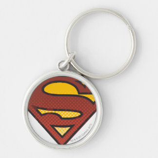 Superman S-Shield | Faded Dots Logo Key Ring