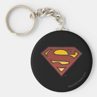 Superman S-Shield   Faded Dots Logo Key Ring