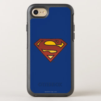 Superman S-Shield | Faded Dots Logo OtterBox Symmetry iPhone 8/7 Case