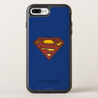 Superman S-Shield | Faded Dots Logo OtterBox Symmetry iPhone 8 Plus/7 Plus Case