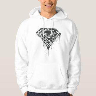 Superman S-Shield | Fragmented Splatter Logo Hoodie
