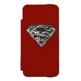 Superman S-Shield | Fragmented Splatter Logo Incipio Watson™ iPhone 5 Wallet Case
