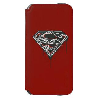 Superman S-Shield | Fragmented Splatter Logo Incipio Watson™ iPhone 6 Wallet Case
