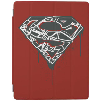 Superman S-Shield | Fragmented Splatter Logo iPad Cover