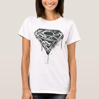Superman S-Shield   Fragmented Splatter Logo T-Shirt