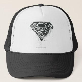 Superman S-Shield | Fragmented Splatter Logo Trucker Hat