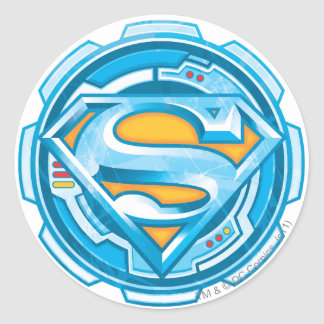 Superman S-Shield | Gear Logo Classic Round Sticker