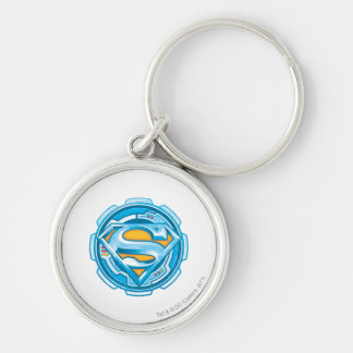 Superman S-Shield   Gear Logo Key Ring