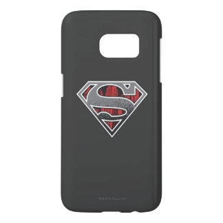 Superman S-Shield | Grey and Red City Logo