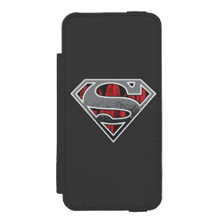 Superman S-Shield | Grey and Red City Logo Incipio Watson™ iPhone 5 Wallet Case