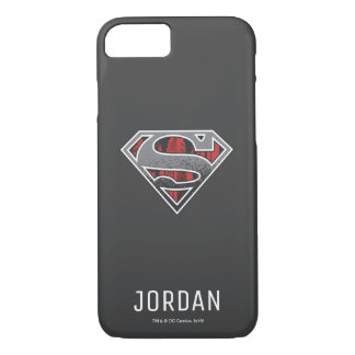 Superman S-Shield | Grey and Red City Logo | Name iPhone 8/7 Case