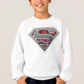 Superman S-Shield | Grey and Red City Logo Sweatshirt