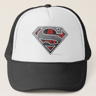 Superman S-Shield | Grey and Red City Logo Trucker Hat