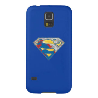 Superman S-Shield | Grey Yellow Red Black Mix Logo Galaxy S5 Cases