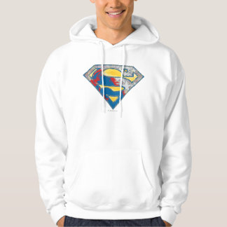 Superman S-Shield | Grey Yellow Red Black Mix Logo Hoodie