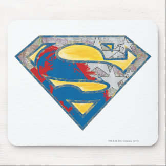 Superman S-Shield | Grey Yellow Red Black Mix Logo Mouse Pad