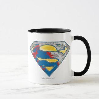 Superman S-Shield | Grey Yellow Red Black Mix Logo Mug