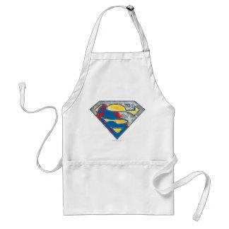 Superman S-Shield | Grey Yellow Red Black Mix Logo Standard Apron