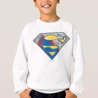 Superman S-Shield | Grey Yellow Red Black Mix Logo Sweatshirt